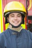 Verticale d'un sapeur-pompier Image libre de droits