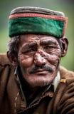 Verticale d'un vieil homme Image libre de droits