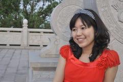 Verticale d'une beauté chinoise Photo stock
