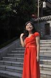 Verticale d'une beauté chinoise Images libres de droits
