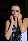 Verticale d'une belle femme Photo stock