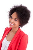 Verticale d'une belle femme d'afro-américain Photographie stock libre de droits