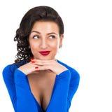 Verticale d'une belle femme de sourire Image stock