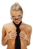 Verticale d'une belle femme de torse nu Image stock