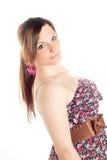 Verticale d'une belle fille blonde photo libre de droits