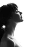 Verticale d'une belle fille. Profil Images libres de droits