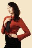 Verticale d'une belle fille sexy de brunette Photo libre de droits