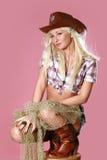 Verticale d'une belle jeune blonde Photographie stock