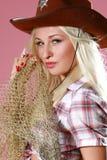 Verticale d'une belle jeune blonde sexy Photos stock
