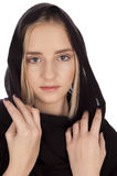 Verticale d'une belle jeune fille blonde Photographie stock libre de droits