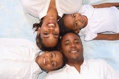 Verticale d'une famille Photographie stock libre de droits