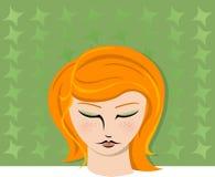 Verticale d'une femme #2 Image stock