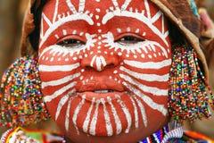 Verticale d'une femme africaine Photos stock