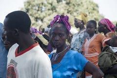 Verticale d'une femme africaine Photographie stock libre de droits