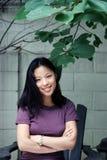 Verticale d'une femme assez coréenne Images libres de droits