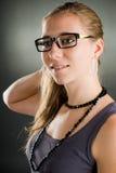 Verticale d'une femme avec des glaces Photo libre de droits