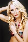 Verticale d'une femme blonde attirante Photos libres de droits