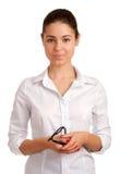 Verticale d'une femme d'affaires assez jeune Image stock