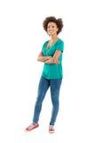 Verticale d'une femme heureuse Photo libre de droits