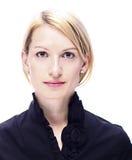 Verticale d'une femme réussie d'affaires photos libres de droits