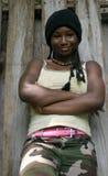 Verticale d'une fille Image libre de droits