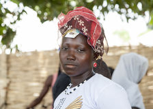 Verticale d'une fille africaine Images stock