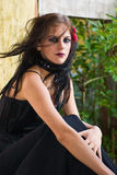 Verticale d'une fille de Goth Photos stock
