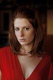 Verticale d'une fille de redhair Image libre de droits