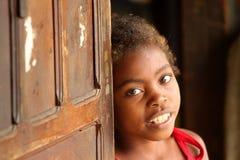 Verticale d'une fille malgache Image libre de droits