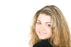 Verticale d'une jeune belle femme Photos libres de droits