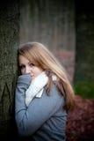 Verticale d'une jeune femme Photos stock