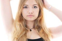 Verticale d'une jeune femme Images libres de droits