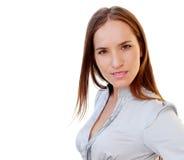 Verticale d'une jeune femme attirante d'affaires Images libres de droits