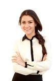 Portrait d'une jeune femme attirante d'affaires Images stock