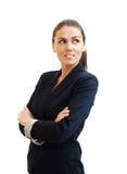 Portrait d'une jeune femme attirante d'affaires photographie stock libre de droits