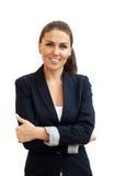 Portrait d'une jeune femme attirante d'affaires Images libres de droits