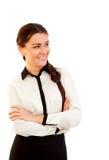 Portrait d'une jeune femme attirante d'affaires photographie stock
