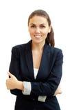 Portrait d'une jeune femme attirante d'affaires photos stock