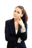 Verticale d'une jeune femme attirante d'affaires images stock