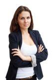 Verticale d'une jeune femme attirante d'affaires image stock