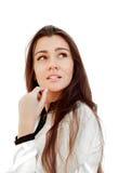 Portrait d'une jeune femme attirante d'affaires image libre de droits