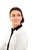 Verticale d'une jeune femme attirante d'affaires Image libre de droits