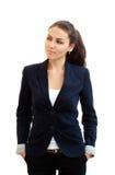 Verticale d'une jeune femme attirante d'affaires Photo stock