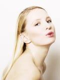 Verticale d'une jeune femme de beauté Image libre de droits
