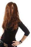 Verticale d'une jeune femme sexy dans des chandails photographie stock