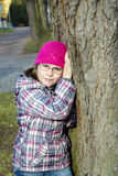 Verticale d'une jeune fille Photographie stock