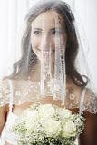 Verticale d'une jeune jeune mariée Photos stock
