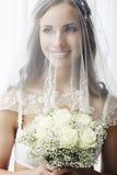 Verticale d'une jeune jeune mariée Photographie stock libre de droits