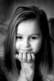 Verticale d'une petite fille Images libres de droits