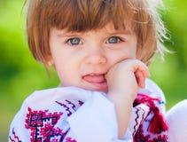 Verticale d'une petite fille Photo libre de droits